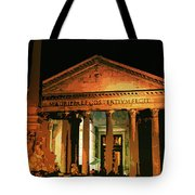 The Roman Pantheon At Night Tote Bag