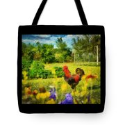The Rooster's Garden Tote Bag