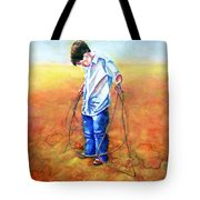 The Roping Lesson Tote Bag