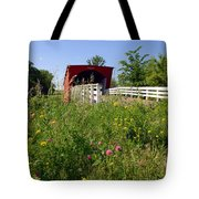 The Roseman Bridge In Madison County Iowa Tote Bag
