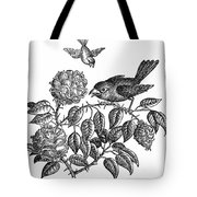 The Roses And The Sparrow Tote Bag