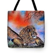 The Royal Lions Of The Mara Tote Bag