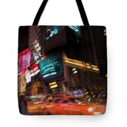The Running Of The Taxis Tote Bag