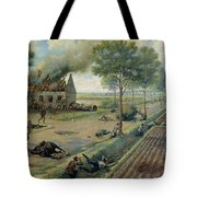 The Russian Cavalry Fighting The Germans In A Village In 1915 Tote Bag