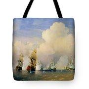 The Russo Swedish Sea War Near Kronstadt In 1790  Tote Bag by Aleksei Petrovich Bogolyubov
