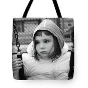 The Sad Girl On A Swing Tote Bag