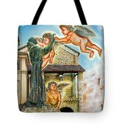 The Saint And The Angels Tote Bag