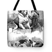 The Saint Bernard Club Dog Show Tote Bag