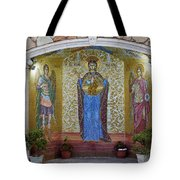 The Saints Are Waiting By The Parking Place Tote Bag
