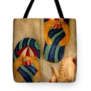 The Sands Of Summer - Flip Flops Tote Bag