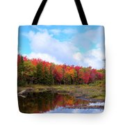 The Scarlet Reds Of Autumn Tote Bag