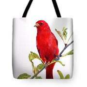 The Scarlett Tanager  Tote Bag