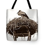 The Schierstein Stork Sepia Tote Bag