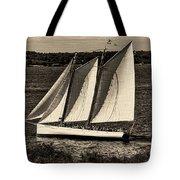 The Schooner Adirondack II Antiqued Tote Bag