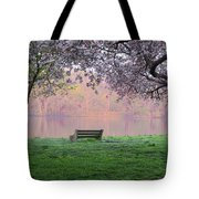 The Schuykill River At Kelly Drive In The Spring Tote Bag