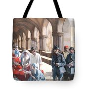 The Scottish Women's Hospital - In The Cloister Of The Abbaye At Royaumont. Tote Bag
