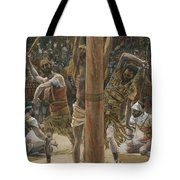 The Scourging On The Back Tote Bag