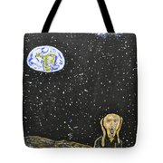 The Scream And Planets  Tote Bag