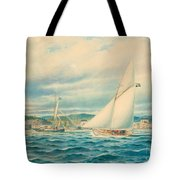 The Sea Approach To Kyrkviken Tote Bag