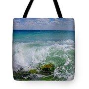 The Sea Breathes Tote Bag