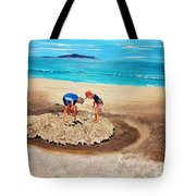 The Sea Surges Up With Laughter Tote Bag
