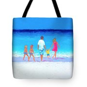 The Seaside Holiday - Beach Painting Tote Bag
