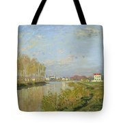 The Seine At Argenteuil Tote Bag by Claude Monet