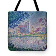The Seine At Mantes, By Paul Signac, 1899-1900, Kroller-muller M Tote Bag