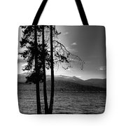 The Selkirk Mountains On Priest Lake Tote Bag