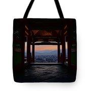 The Setting Sun And Kiyomizu-dera Tote Bag