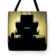 The Setting Sun Silhouettes An Air Tote Bag