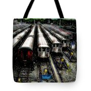 The Seven Train Yard Queens Ny Tote Bag