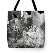 The Sgt. York Set With Director Howard Hawks And Gary Cooper 1941-2016 Tote Bag