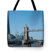 The Shard With Tower Bridge Tote Bag
