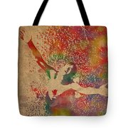 The Shawshank Redemption Movie Inspired Watercolor Portrait Of Tim Robbins On Worn Distressed Canvas Tote Bag
