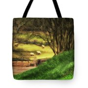 The Sheep's In The Meadow Tote Bag
