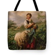 The Shepherdess Tote Bag by Johann Baptist Hofner