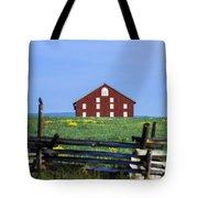 The Sherfy Farm At Gettysburg Tote Bag