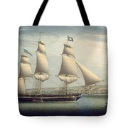 The Ship -favorite-maneuvering Off Greenock Tote Bag