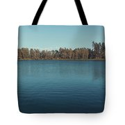 The Shore Of Flathead River Tote Bag