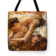The Show Must Go On - Palette Knife Oil Painting On Canvas By Leonid Afremov Tote Bag