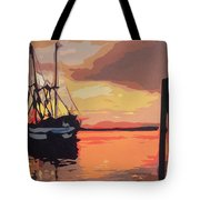 The Shrimp Boat Tote Bag
