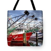 The Shrimpers Salute Tote Bag