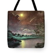 The Silence Of A Falling Star Tote Bag