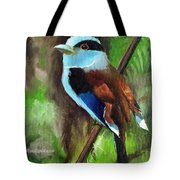 The Silver Breasted Broadbill Tote Bag