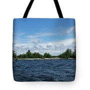 The Silver Bullet - Little Silver Boat Speeding Along Tote Bag