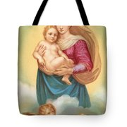 The Sistine Madonna Tote Bag