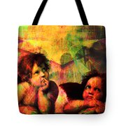 The Sistine Modonna Baby Angels In Abstract Space 20150622 Tote Bag