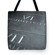The Sixth Commandment Tote Bag