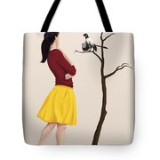 The Size Of An Archaeopteryx Perched Tote Bag